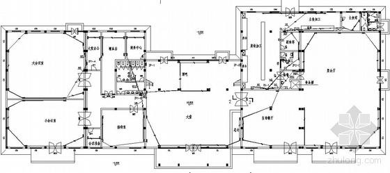 餐厅电气消防资料下载-某风景区会议餐厅电气消防报警设计图