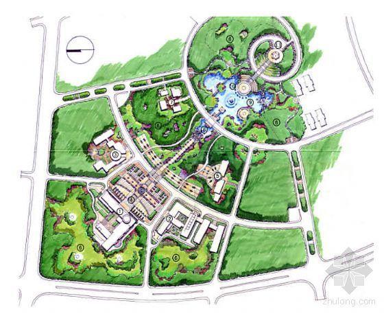 湖南长沙某科技园中心区景观概念规划方案