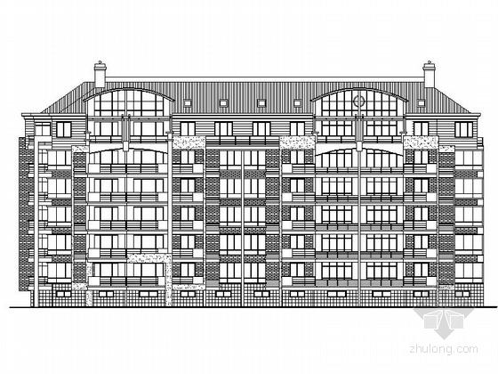 六层带阁楼坡屋顶住宅建筑施工图