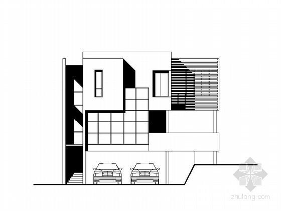 某二层现代别墅建筑方案图(含效果图)