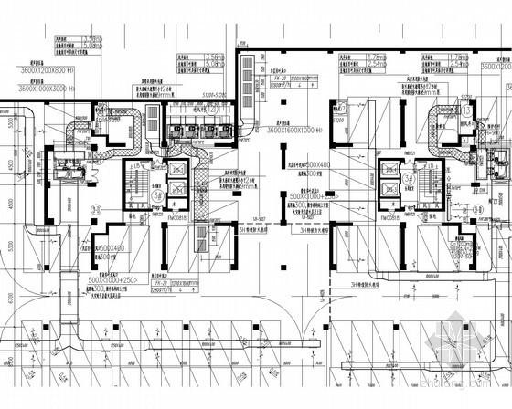 [福建]高层商业综合楼空调及防排烟系统设计施工图(人防设计)