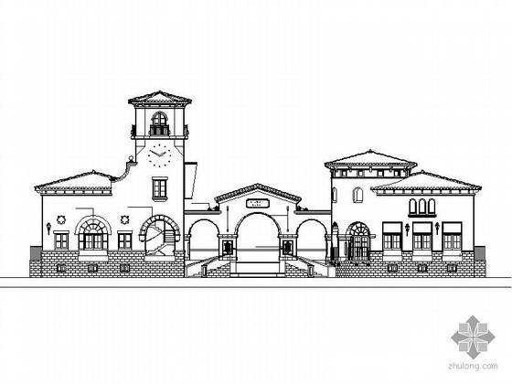 某单层豪华会所建筑施工图