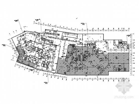 [苏州]大型办公楼全套电气施工图纸(含车库及人防)