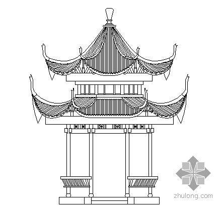 重檐六角亭全套施工图