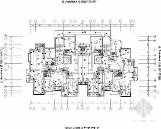 [内蒙古]十四层商业住宅楼全套电气施工图纸