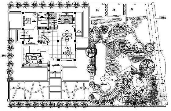 别墅庭院绿化设计图