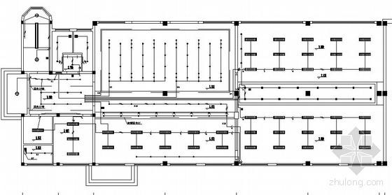 某大楼三层照明插座空调报警平面图