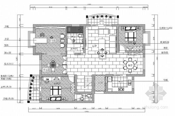 典雅中式二层别墅室内装修施工图(含效果图)