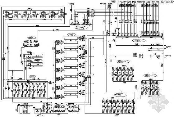 制冷机房空调水系统原理图