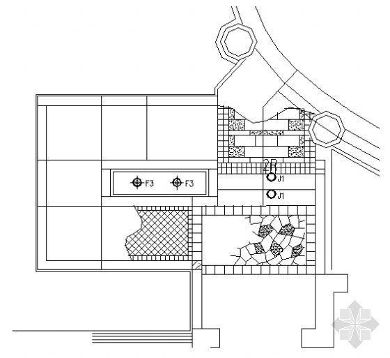 楼入口铺装做法详图5
