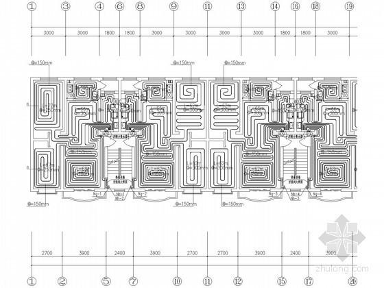 多层住宅水暖设计图纸(辐射采暖)
