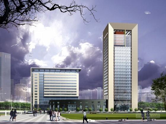 现代商业办公楼后期表现psd素材