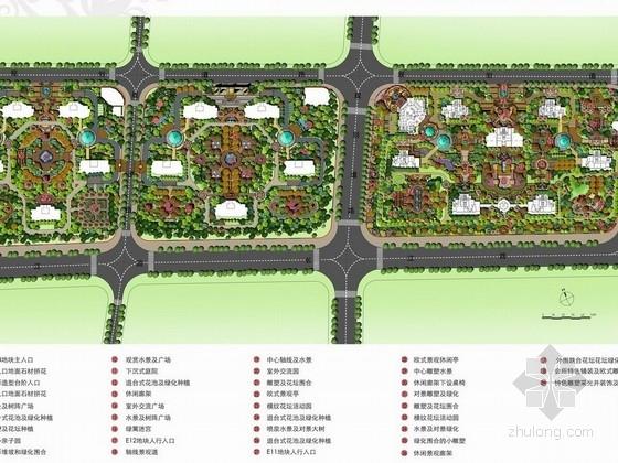 [大连]官邸宫廷式新古典主义高档住宅区景观规划设计方案