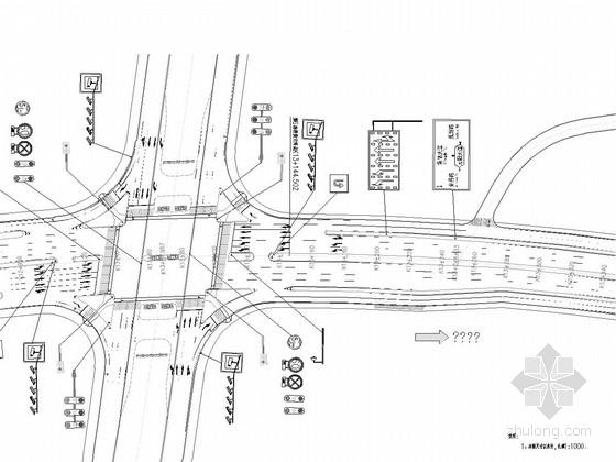 [湖南]市政道路交通设施施工图54张(标线标志信号灯监控)