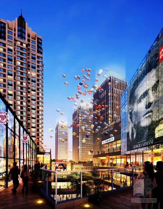 [内蒙古]artdeco风格高层城市综合体建筑设计方案文本-artdeco风格高层城市综合体效果图