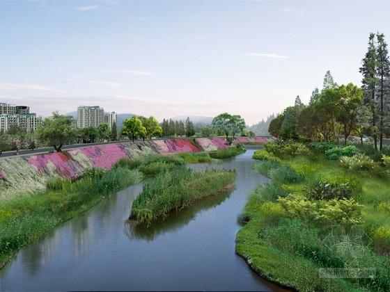 河道绿化PSD分层素材下载