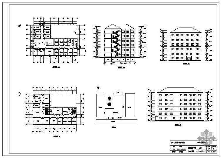 [学士]某6层框架办公楼毕业设计(含计算书、预算书、建筑结构设计图)