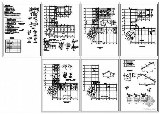 云南某警务站办公楼结构图