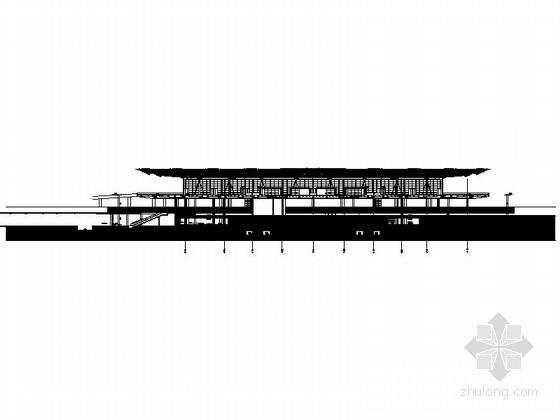 [上海]大型现代风格交通枢纽站设计施工图-大型现代风格交通枢纽站剖面图