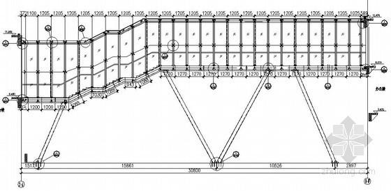 钢玻璃走廊结构施工图