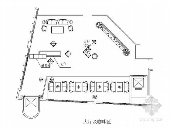 [成都]某洗浴中心大厅及咖啡区装修图