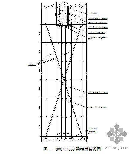 淮南某办公楼高大支撑模板搭设专项施工方案(超重梁 超高)