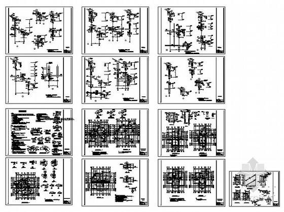 某带架空层别墅结构设计图