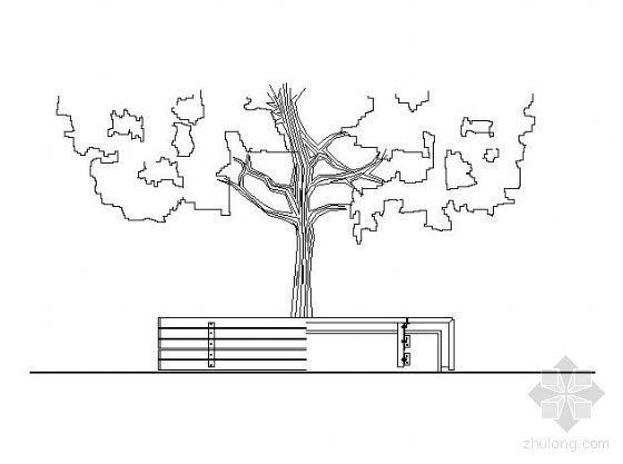 某树池坐凳施工大样图