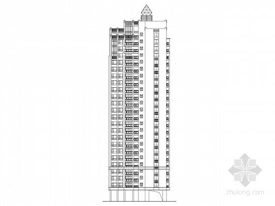 [深圳]二十四层高层商住楼建筑施工图