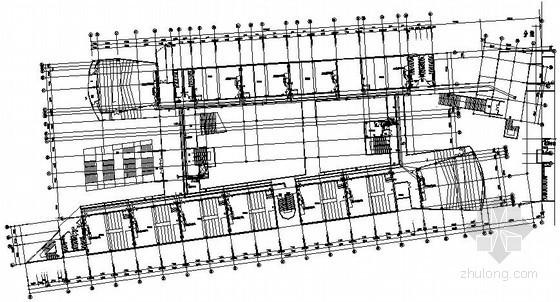 高等院校教学楼弱电系统施工平面图纸