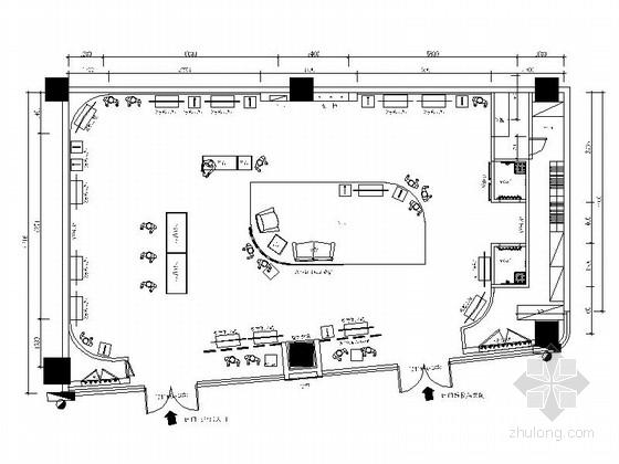 [湖北]某商场名品专卖店室内装修施工图(含效果)