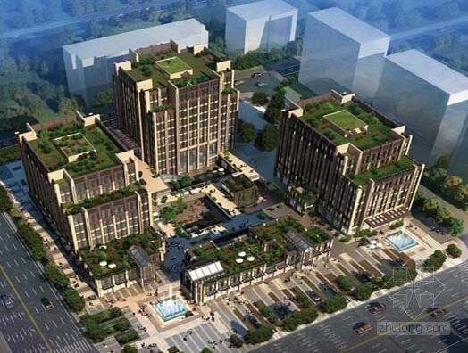 [上海]4栋框架剪力墙结构商业办公楼结构施工图(5万平)