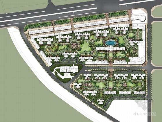 [广东]欧式简约自然住宅小区设计方案