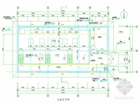 5000T水厂清水池及泵房组合建筑物施工节点详图