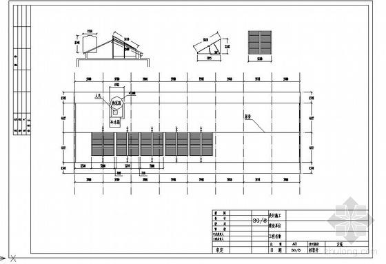 浙江某宾馆太阳能热水系统布置图及运行原理图