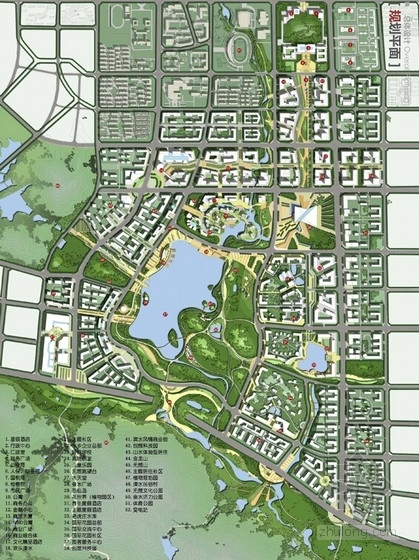 城市设计总平面图