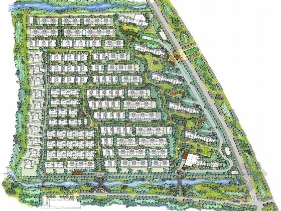 [苏州]新亚洲风格住宅区景观规划设计方案