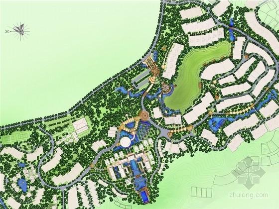 """[海南]""""泰式""""自然休闲温泉度假村景观概念设计方案"""