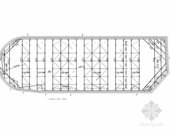 12米深基坑排桩加三道混凝土支撑支护施工图