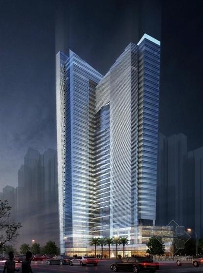 [深圳]超高层船帆状商务酒店改造建筑设计方案文本