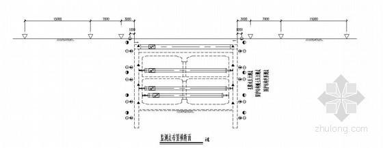 [广东]地铁车站深基坑开挖监测平面布置图