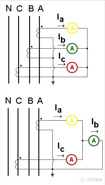 配电柜上电流表与互感器的接线图_4