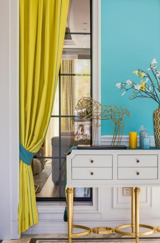 [沈阳]夏日里的Tiffany主题混搭风别墅室内设计施工图(含实景图