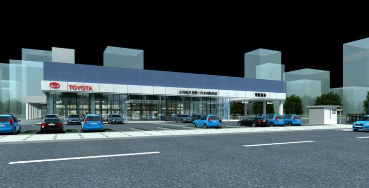 (原创)汽车4S店建筑外观设计案例效果图-4s店6