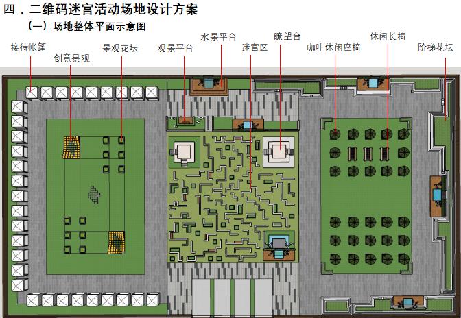 [北京]国际乡村民宿博览会策划方案(厂房改造,生态)B-0 二维码迷宫活动场地