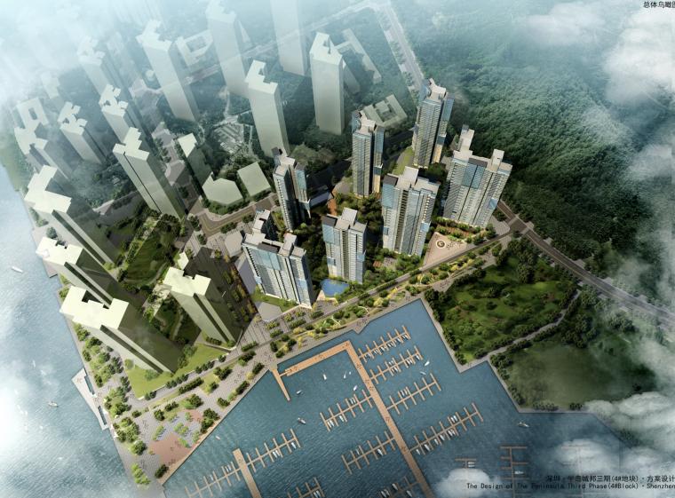 [广东]深圳滨海居住社区建筑设计方案文本(现代简约,商业步行街)