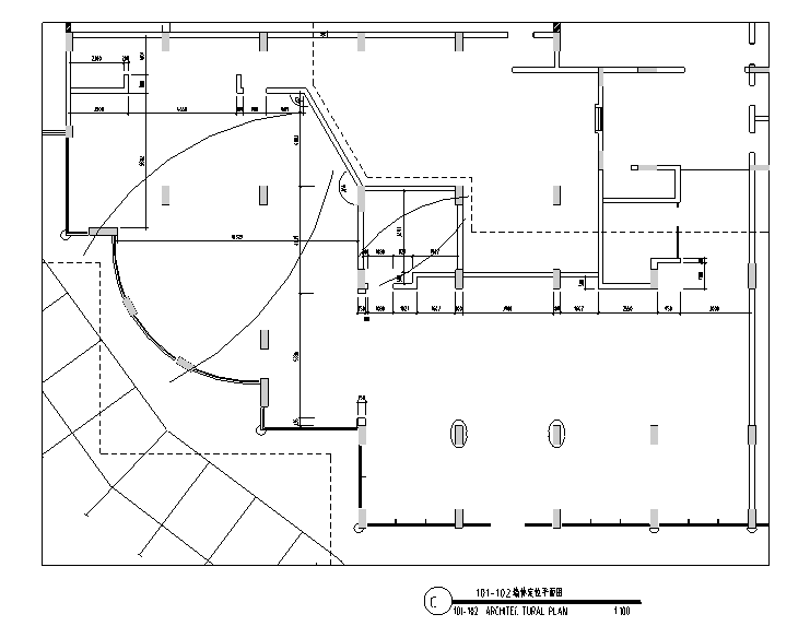 墙体定位平面图
