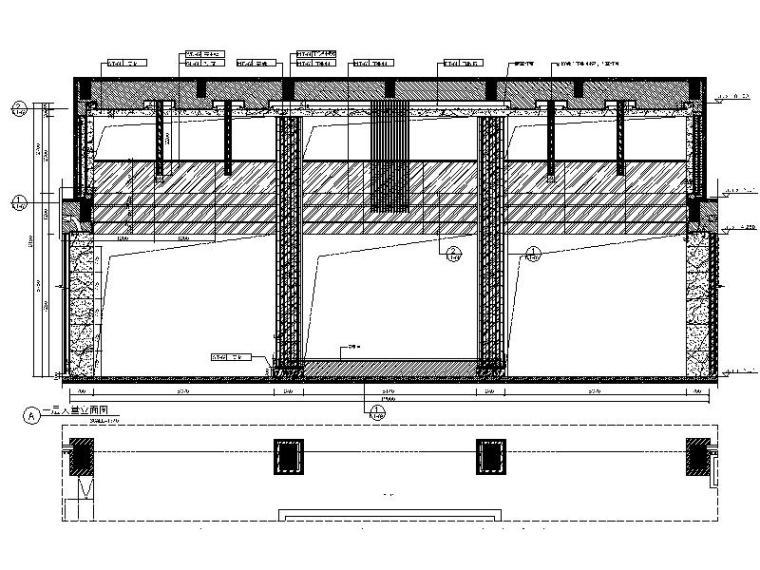[厦门]时尚奢华高端大气售楼处室内设计施工图(含效果图)_2
