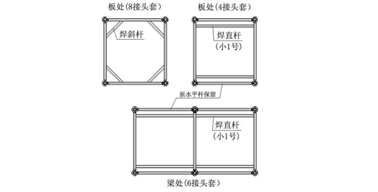 焊接水平套式格构柱碗扣式钢管支架施工工法