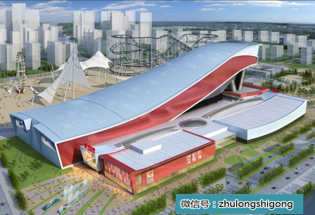 标准化钢结构图资料下载-图解60亿哈尔滨万达施工流程(钢结构流程图)